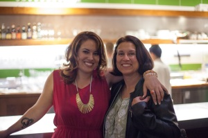 My mom and me at my book launch party for Feast Island, 2012.