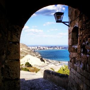 A view of the sea from the Castillo de Santa Barbara in Alicante, Spain. Photo cred: Yours truly. :)