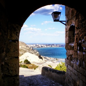 A view of the sea from the Castillo de Santa Barbara in Alicante, Spain. Photo cred: Yours truly. :)