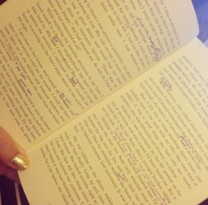MY edits in my book proof.
