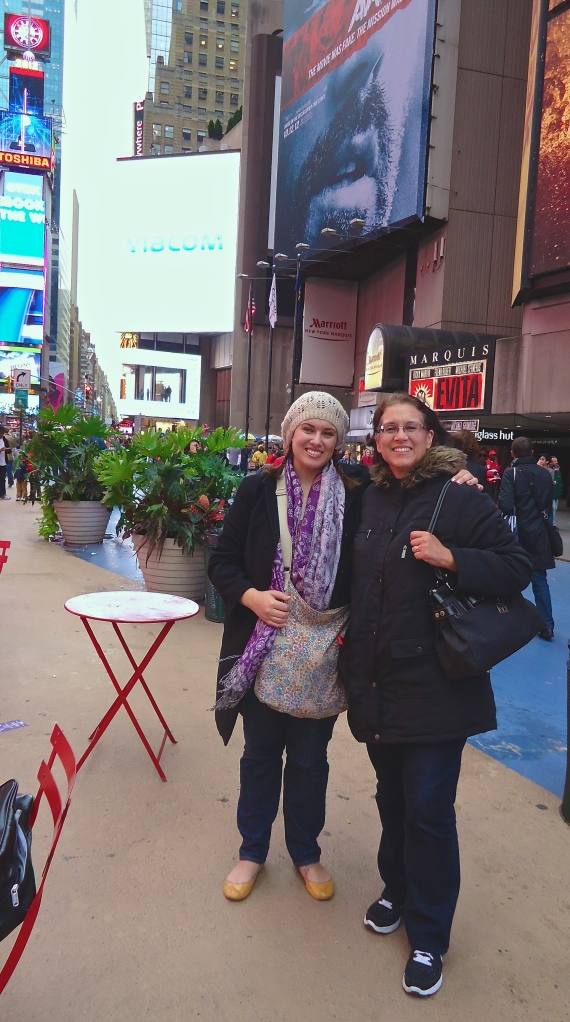 My mom and me in NY, 2012 (age 28).