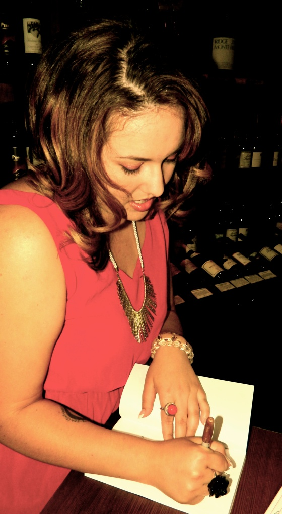 My very first book signing, age 27.