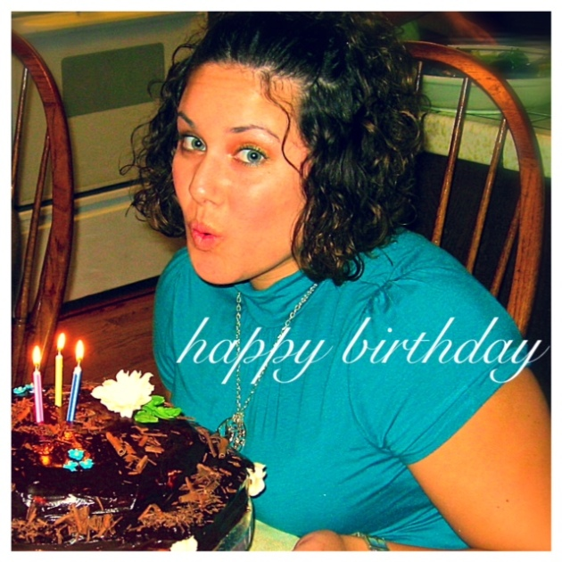Me on my 23rd birthday, 7 years ago!