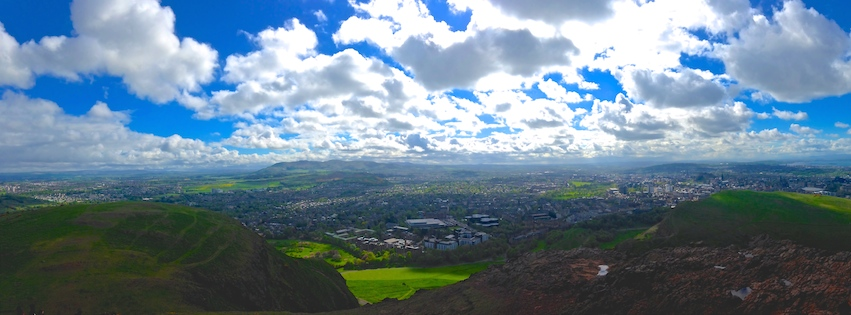 View from King Arthur's Seat in Edinburgh, Scotland.