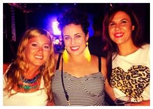 At the concert with friends :)
