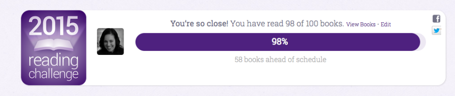 Note: This number does not include the 8+ books I've edited and therefore read this year.